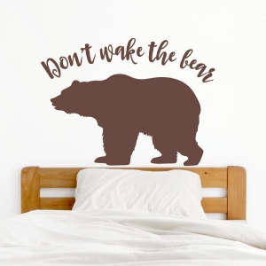 Don't Wake Bear Wall Decal
