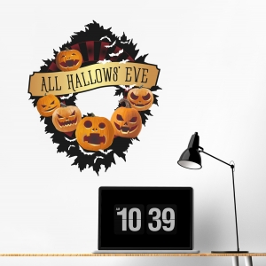 Halloween Wreath Wall Decal