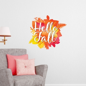 Hello Fall Wall Decal