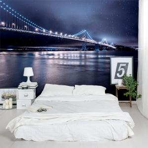Night Bridge Wall Mural