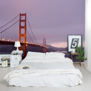 Golden Gate Night Lights Wall Mural