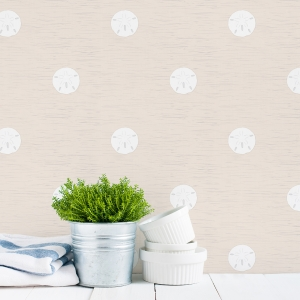 Sand Dollar Geometric Abstract Removable Wallpaper