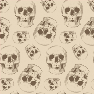 Skull Removable Wallpaper Tiles