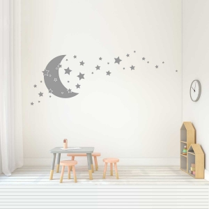 Stars and Moon Wall Decals