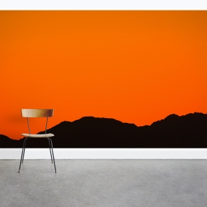 Sunset over the Mountains of Eilat I Wall Mural