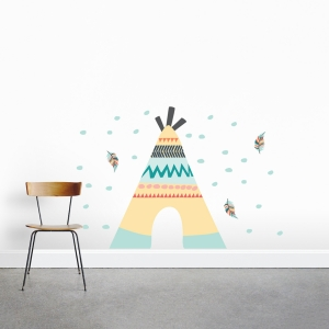 Teepee Printed Wall Decals