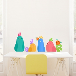 Tropical Bird Desk Topper Printed Wall Decal