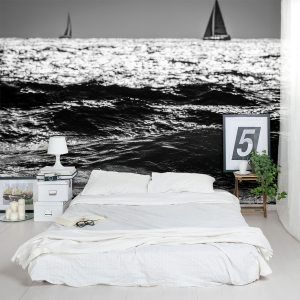 Two Sailboats Wall Mural