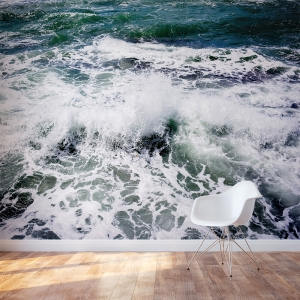 White Splash Wall Mural