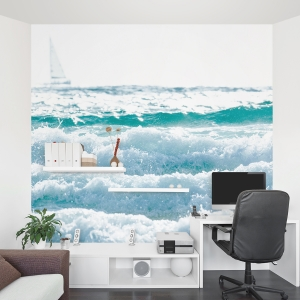 White on White Wall Mural