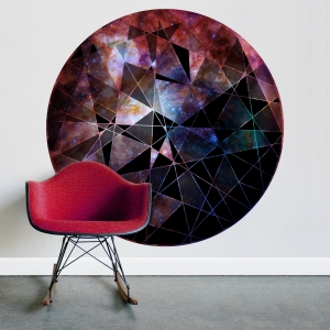 Circle Geometric Abstract Printed Wall Decal Galaxy Forest Water