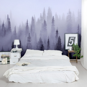 Trees in the Mist Wall Mural