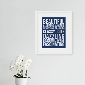 Beautiful Adjectives Typographic Poster