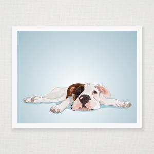 Boxer Puppy  Wall Art Print