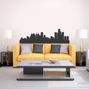 Detroit Michigan Skyline Vinyl Wall Art Decal
