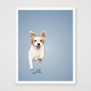 Jack Russell Terrier Wall Art Print
