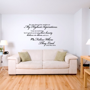 My highest Aspirations Wall Decal