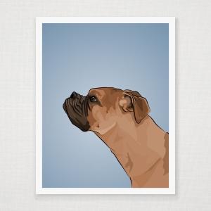 Boxer Profile Wall Art Print