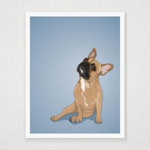 French Bulldog Wall Art Print