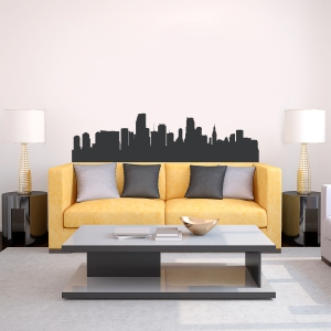 Miami Florida Skyline Vinyl Wall Art Decal