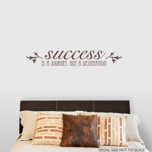 Success is a journey Wall Decal
