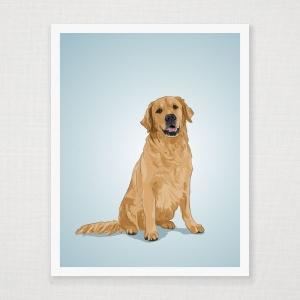 Golden Retreiver Art Print