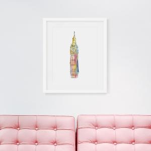 Vibrant Big Ben Art Print