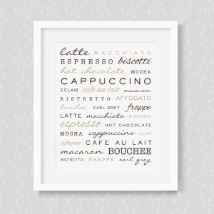 Caffeine and Pastries Art Print
