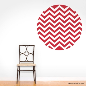 Chevron Circle Wall Decal