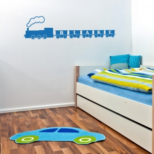 Custom Letter Train Name Wall Decal