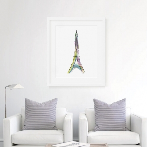 Vibrant Eiffel Tower Art Print