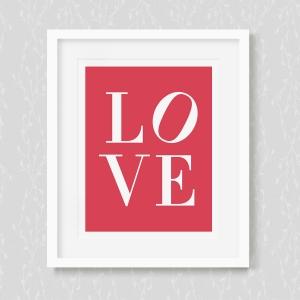 Indiana's Love Sculpture - Art Print