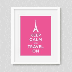 Keep Calm and Travelon - Art Print