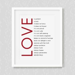 Love is Patient - Art Print