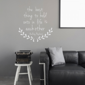 The Best Thing - Audrey Hepburn Wall Quote Decal