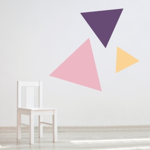 Triangle Trio Wall Decal