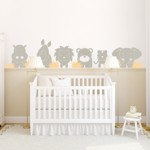 Zoo Babies Wall Decal