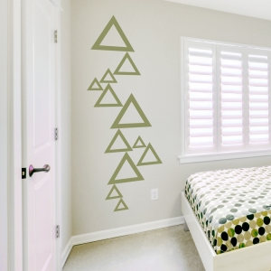 Stacked Triangles Wall Decal