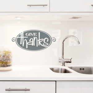 Give Thanks Wall Quote Decal