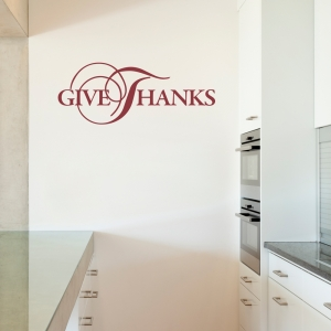 Give Thanks IV Wall Quote Decal