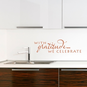 With Gratitude Wall Decal
