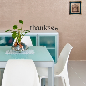 Thanks Wall Quote Decal