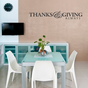 Thanks and Giving Quote Decal