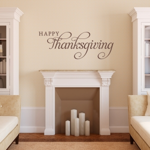 Happy Thanksgiving Wall Quote Decal