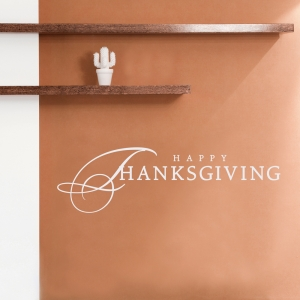 Happy Thanksgiving II Wall Quote Decal