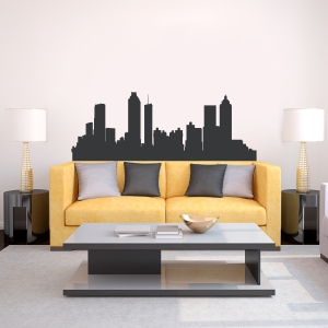 Atlanta Georgia Skyline Vinyl Wall Art Decal