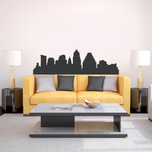 Austin Texas Skyline Vinyl Wall Art Decal