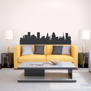 Baltimore Maryland Skyline Vinyl Wall Art Decal