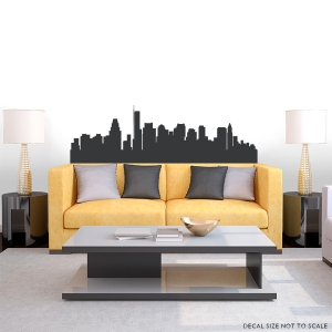 Boston Massachusetts Skyline Vinyl Wall Art Decal