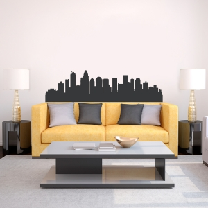 Charlotte North Carolina Skyline Vinyl Wall Art Decal
